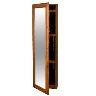 Powell Dakota Cheval Jewelry Wardrobe with Full Length Mirror, Antique