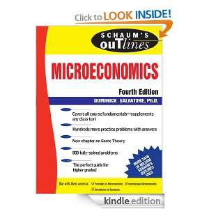 Schaums Outline of Microeconomics, 4th edition (Schaums Outline