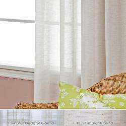 Faux Linen Grommet 84 inch Curtain Panel Pair