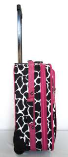 Pc Luggage Set Travel Bag Rolling Wheel Giraffe Pink