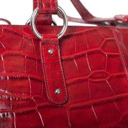 Michael Rome Patent Croco embossed Leather Tote Bag |