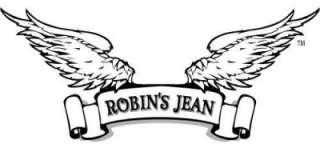 ROBINS JEAN Black Trim Denim BOOT CUT Womens Size 30