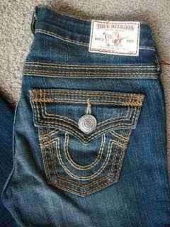 NWT True Religion Becky Big T QT Jeans Del Mar Medium