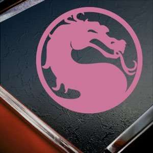 MORTAL KOMBAT DRAGON Pink Decal Car Truck Window Pink