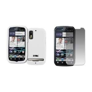 EMPIRE White Silicone Skin Case Cover + Screen Protector