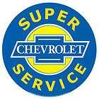 General Motors Super Chevrolet Service Garage Tin Sign