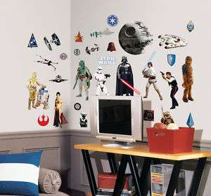 Star Wars Removable Wall Decals Stickers Vader Luke Han
