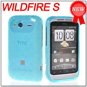 TPU SILICONE CASE COVER + SCREEN FOR HTC WILDFIRE S 2 G13 LIGHTBLUE