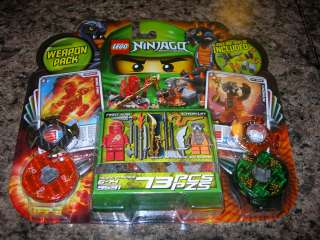LEGO Ninjago Weapon Pack NRG KAI & CHOKUN 9591 red ninja snake energy