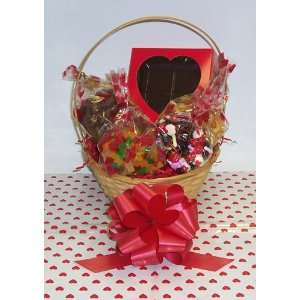 Scotts Cakes Small Kiss Me Valentine Basket Handle Heart Wrapping