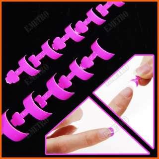100pcs Mini French Nail Art Side False Tips Pink + Box