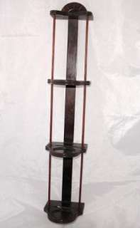 Vintage/Antique Wood Wall Teacup & Saucer Display Rack Shelf
