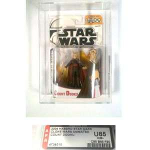 Graded Toys Star Wars Clone Wars AFA 85 Count Dooku Action