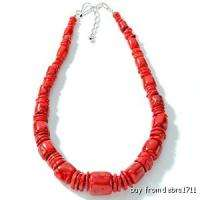New 18 Bamboo Red Coral Necklace Genuine JAY KING