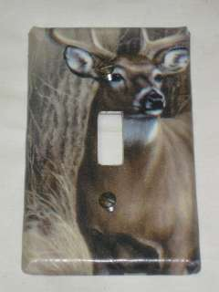 Oak Camo/Bear/Deer/Moose Light Switch Plate Cover Hunting Lodge Decor