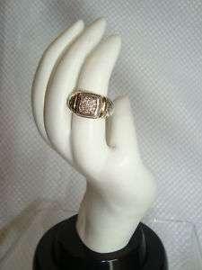 DAVID YURMAN 18K GOLD & S.S.CABLE PAVE DIAMOND RING Sz 6.5 MINT