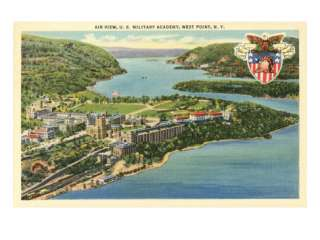Air View, U.S. Military Academy, West Point, New York Premium Poster