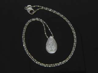 ANTIQUE ART DECO 14K WG DIAMOND TEARDROP PENDANT