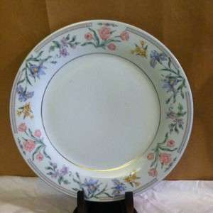 Fine China Jardin J.X Dinner Plate Pink Rose 10 1/2 Inch Wide