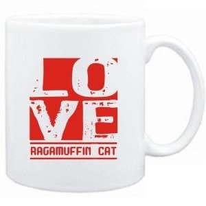 Mug White  LOVE Ragamuffin  Cats