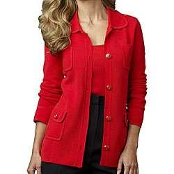 Austin Reed Womens Juliana Red Knit Jacket