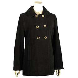 Liz Claiborne Womens Double breasted Wool Peacoat