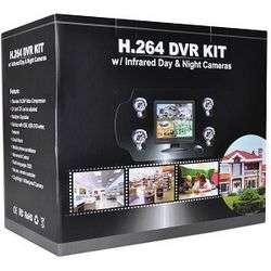 Standalone DVR Surveillance Kit w/15 LCD & 4 IR Motion Cameras