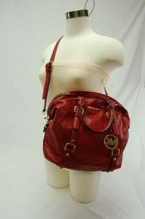 Michael Kors NWT Satchel BEDFORD Red Leather Handbag Purse $348 SALE