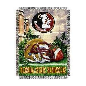 Florida State Seminoles NCAA Woven Tapestry Throw (Home
