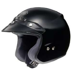 Shoei RJ Platinum R Open Face Motorcycle Helmet Black XXL 2XL 02 606
