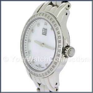 New, Authentic ESQ Luxe White Mother Of Pearl Watch, Ladies Model