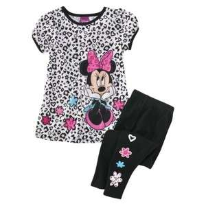 NWT Disney Minnie Mouse Short Sleeve 2pc Set Size 2T 3T 4T 5T