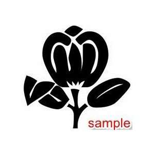 FLOWERS AND PLANTS FLOWER 01 10 WHITE VINYL DECAL STICKER