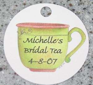 20 Personalized Teacup Favor Gift Tag Bridal Tea Shower