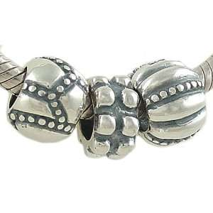 Edge Spacer Beads Sterling Silver for European Charm Bracelet Jewelry
