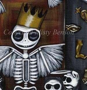 El dia de los muertos art gothic skeleton LE CANVAS