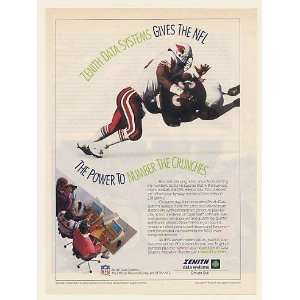 1991 Zenith Data Systems NFL PC Laptop Computer Print Ad