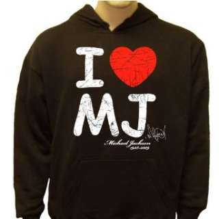 com Michael Jackson I Love MJ Memorial Sweatshirt, Michael Jackson