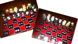 Handmade True Blood Chess Set Polymer Clay HBO Sookie Vampires Eric