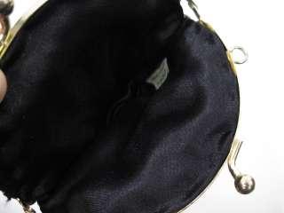 Black Beaded Small Clutch Handbag. This a small beaded coin purse