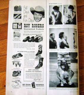 1954 Ad Roy Rogers Toys & Gifts