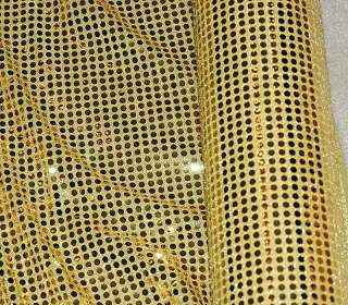 SEQUIN STRETCH KNIT FABRIC GOLD 56 BY THE YARD