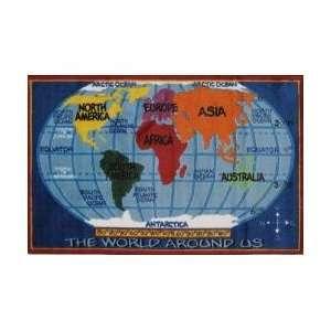 Kids World Map Kids Rug   39 x 58   Supreme   TSC 161 3958