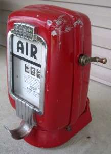 Vintage Gas Station Air Meter Eco Tireflator Model 97 WORKS!