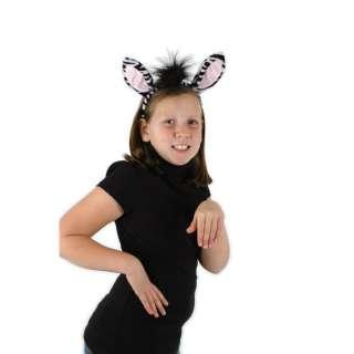 Zebra Animal Ear and Tail costume set kids&adults size