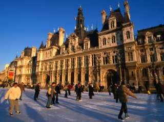 Skating in Front of Paris Hotel De Ville (City Hall), Paris, France