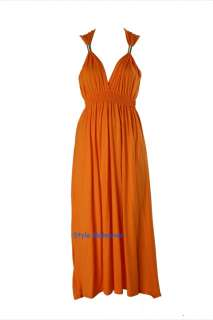 Sexy Ladies Women Long Maxi Coil Spring Stretch Jersey Colours Dress 8