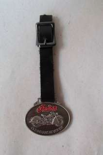 Indian Motorcycle oval medallion Key ring fob