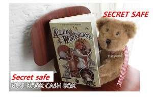 secret real book safe hidden storage stash w key lock