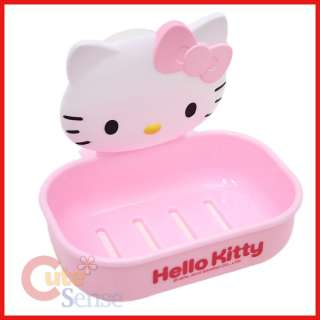 Sanrio Hello Kitty Face Soap Dish Case  Window Attachable  Licensed